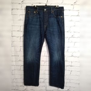 Levi's 501 button fly straigh  jeans size 36X32